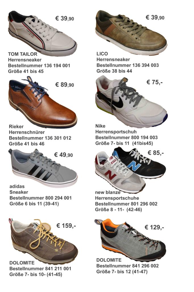 Aktuelle Schuhe für den Mann